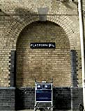 JP London PMUR0058 Peel and Stick Removable Wall Decal Sticker Mural, Harry Platform 9 3/4 Potter, 4 x 3-Feet