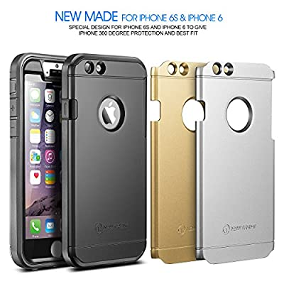 "iPhone 6s Plus Case, New Trent Trentium 6L Rugged Durable iPhone Case for Apple iPhone 6s Plus iPhone 6 Plus 5.5"", Black Silver Gold Plates by New Trent"