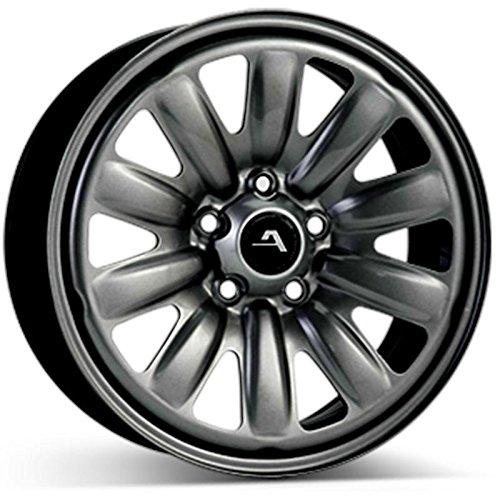 CERCHI-IN-FERRO-KFZ-ALCAR-HYBRIDRAD-VW-6X15-5X100-ET38-571-Colore-BLACK-Omol-ECE-124R