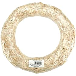 FloraCraft Straw Wreaths, 14-Inch Straw Wreath