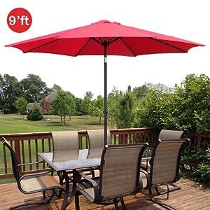 gothobby 9ft outdoor patio umbrella aluminum