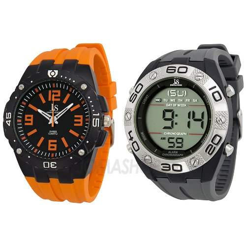 Joshua and Sons Analog and Digital Watch Set JS-74-1