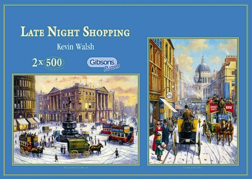 Gibsons-puzzle-Late-Night-Shopping-500-pieces-x-2-Toy