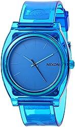 Nixon Time Teller P Translucent Blue Dial Blue Translucent Polyurethane Ladies Watch A1191781