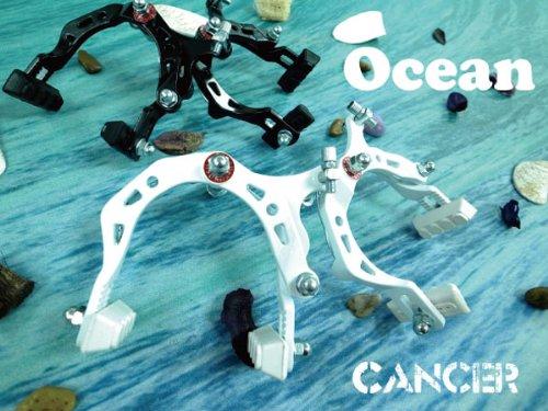 Ocean キャンサーブレーキキャリパ―26インチ 前後セット/ブラック[ピスト/ピストバイク/シングルスピード/カスタムパーツ]