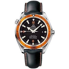 Omega Men's Seamaster Planet Ocean Automatic Chronometer Orange Bezel Watch #2909.50.82