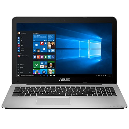 ASUS X555DA-AS11 15 inch Full-HD AMD Quad Core Laptop with Windows 10, Black & Silver