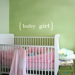 Baby Girl - Large - Wall Quote Stencil