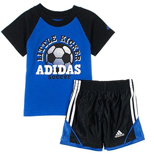 Adidas Babyboys 2-Piece Athletic T-Shirt & Shorts Set Bright Blue front-483790
