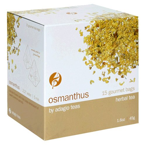 Buy Adagio Teas Herbal Tea, Osmanthus, Tea Bags, 15-Count Package (Pack of 3) (Adagio Teas, Health & Personal Care, Products, Food & Snacks, Beverages, Tea, Herbal Teas)