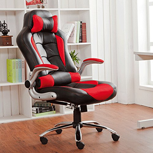 btm-new-high-back-pu-leather-executive-office-desk-task-computer-chair-w-metal-base-black-red