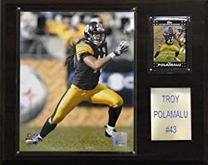 NFL Troy Polamalu Pittsburgh Steelers Player Plaque by C&I Collectables