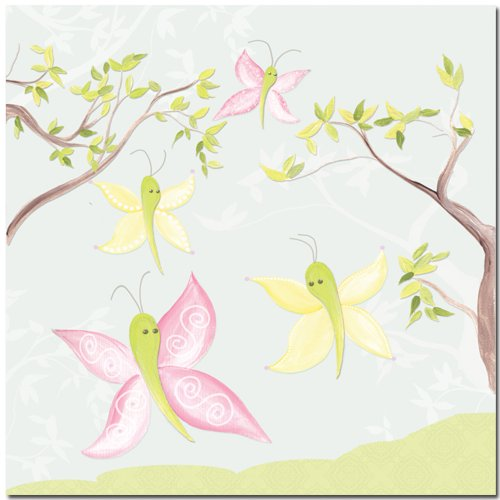"Doodlefish Gallery-Wrapped 18""x18"" Wall Art, All-a-Flutter"
