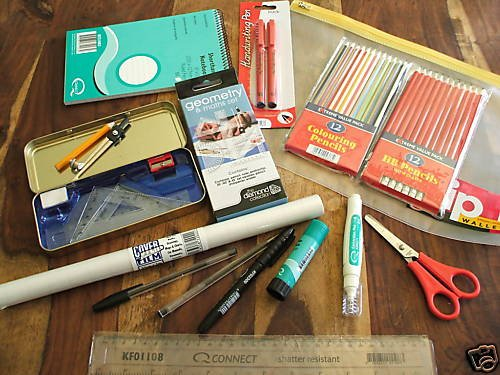43 PIECE DESK TOP BACK TO SCHOOL STATIONERY COLLEGE KIT
