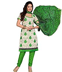 Lamiya Women's Unstitched Salwar Suit (PIC5008_Green_Free Size)