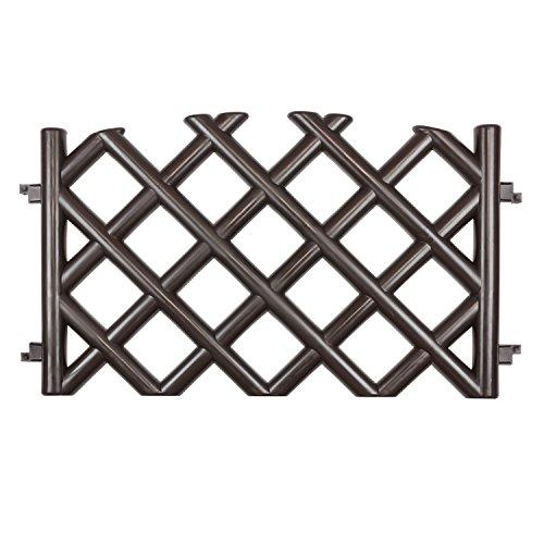 3 5 m gartenzaun zierzaun j gerzaun braun h 45 cm zaun. Black Bedroom Furniture Sets. Home Design Ideas