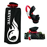 Revive Collapsible Canteen Sports Water Bottle BPA Free With Carabiner Clip Hook. Folding Pouch Best For Travel...