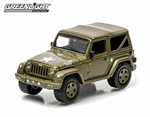 "Greenlight 2014 Jeep Wrangler ""US Army"" 1:64 Scale (Dark Green)"