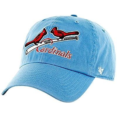 St. Louis Cardinals Adjustable MLB Cooperstown Clean Up Hat - Light Blue