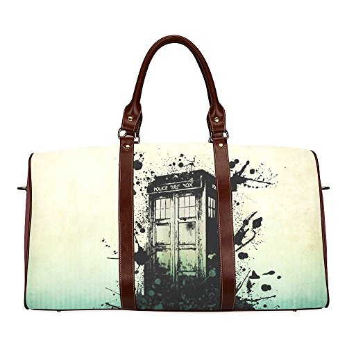 Doctor Who Tardis Custom Waterproof fabric Two-sided Printing Large Duffle Sports/Travel Bag