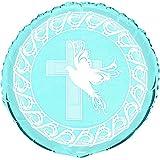 Unique Party 18-Inch Foil Dove Cross Christening Balloon (Blue)
