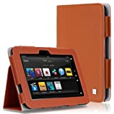 CaseCrown Bold Standby Case (Orange) for 2012 1st Generation Amazon Kindle Fire HD 7 Inch with Auto Sleep Function (DOES NOT FIT HDX MODEL)