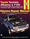 Toyota Tacoma, 4 Runner & T100 Automotive Repair Manual. Models covered: 2WD and 4WD Toyota Tacoma (1995 thru 2000), 4 Runner (1996 thru 2000) and T100 (1993 thru 1998)