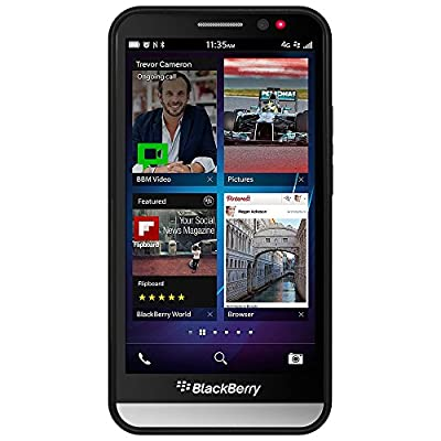 Amzer Border Case for BlackBerry Z30 - Retail Packaging - Black by Amzer