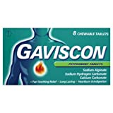 Gaviscon Heartburn & Indigestion Relief 250mg - Peppermint - 8 Tablets