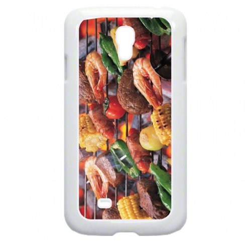 Barbeque Grill - Top View Hard White Snap On Plastic Case - For The Samsung® Galaxy S4 I9500 Case