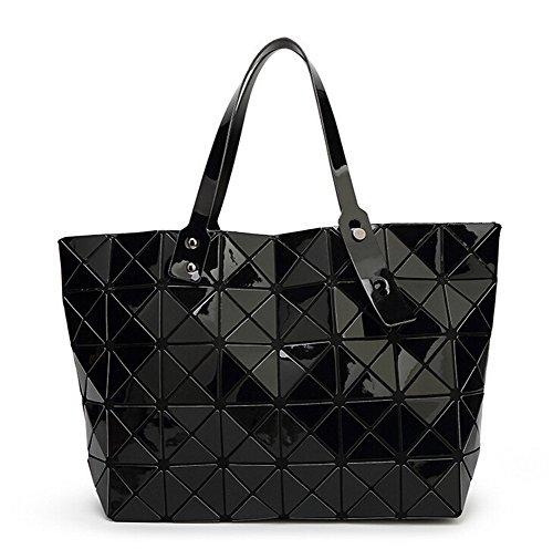 scheppend-variete-folding-femmes-simple-epaule-sac-geometrique-matelasse-sac-a-main-42cm-25cm-noir