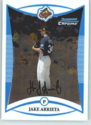 2008 Bowman Chrome Draft Prospects # BDPP92 Jake Arrieta FG (Future's Game - Prospect) Baltimore Orioles - MLB Baseball Trading Card