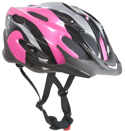 Sport Direct Women's Vapour Bicycle Helmet - Pink/Black/Silver, Size 56-58