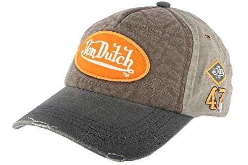 von-dutch-cuffia-baseball-von-dutch-jack-grigio-e-marrone-uomo-donna-grigio-taglia-unica