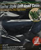 World of Golf Deluxe Barrel Style Fur Pile Club Covers Black Set of 3