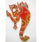 Home Decor - Om Ganesh Wooden Wall Hanging From JM - Jay Maharaj Handicraft