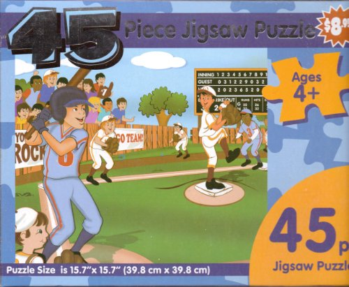 Little League Baseball Game ~ 45 Piece Jigsaw Puzzle - 1