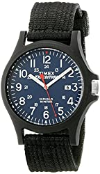 Timex Men's TW49999009J Expedition Acadia Black Resin Watch with Nylon Band