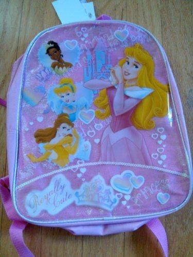 "Disney Princess ""Royally Cute"" Full Size Pink Backpack - 1"