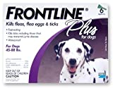 Merial Frontline Plus Flea and Tick Control for 45- to 88-Pound Dogs and Puppies, 6 Month