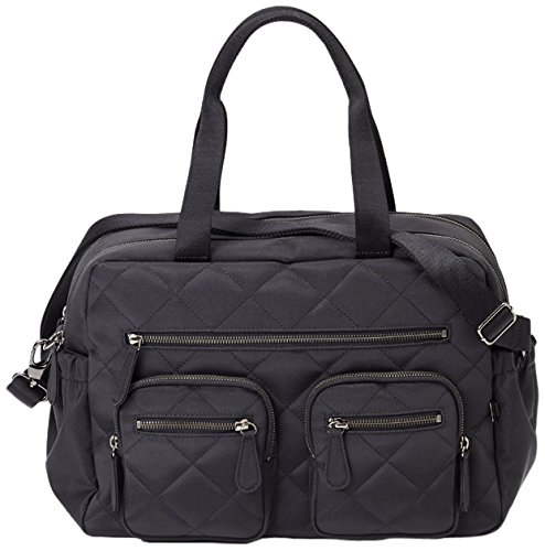 OiOi Sac à Langer Quilted Nylon Carry All Noir