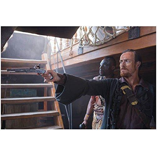 Black Sails Toby Stephens as Captain Flint Aiming Firearm 8 x 10 Photo цена 2016