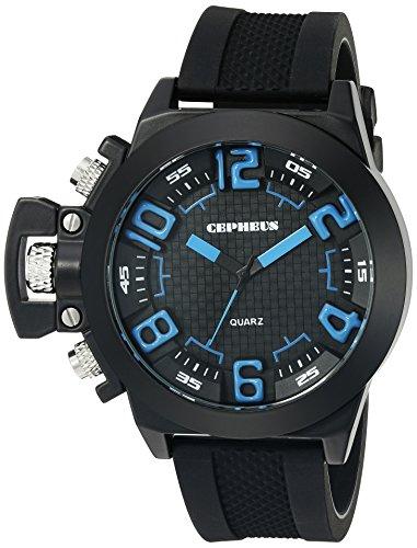 CEPHEUS - CP901-622B - Montre Homme - Quartz Analogique - Bracelet Silicone Noir