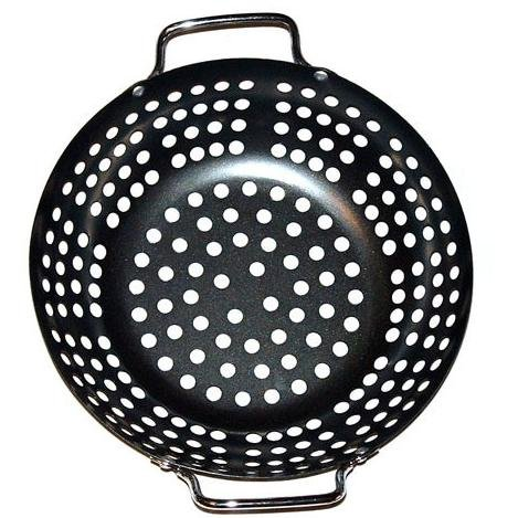 Grillpro 98130 Porcelain Coated Round Grill Topper, 11-Inch Diameter And 2-1/2-Inch Deep