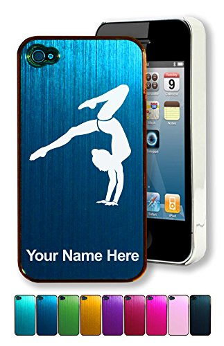 Engraved Aluminum iPhone 4/4S Case/Cover - GYMNAST, GYMNASTICS, GYM - Personalized for Free (Personalized Cases For Iphone 4s compare prices)