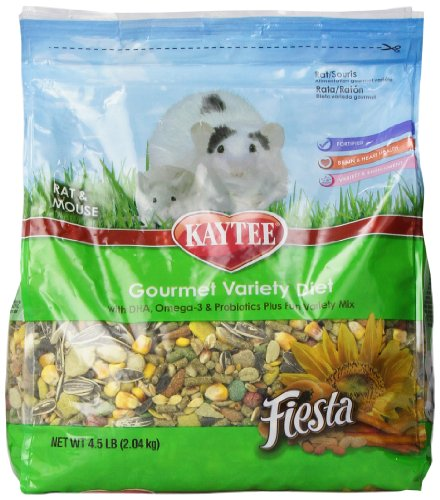 Kaytee Fiesta Small Animal Food for Mice and Pet Rats, 4-1/2-Pound (Mouse Food compare prices)