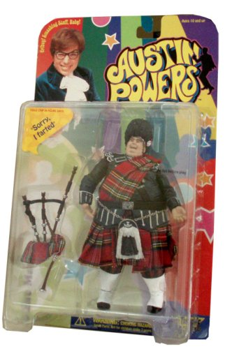 "McFarlane Toys Year 1999 Austin Powers Ultra Cool 7 Inch Tall Action Figure - FAT MAN with Bag Pipes and Voice Chip in Figure That Says "" Sorry, I Farted"""