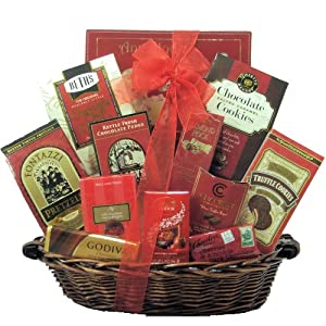 GreatArrivals Gift Baskets Anniversary Gift Basket, Sweet Romance, 4 Pound