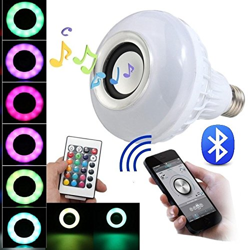 Mabor Bluetooth Smart LED Light Bulb Speaker RGB Color Changing with Remote Control