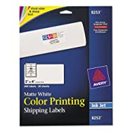 Inkjet Labels for Color Printing, 2 x 4, Matte White, 200/Pack